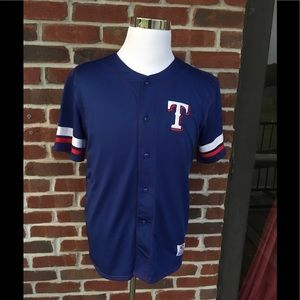 TEXAS RANGERS YOUTH XL (14-16) JERSEY EUC